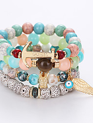 European And American Fashion Eye Angel Wings Bracelets Multilayer String