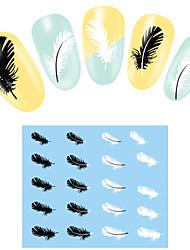 Autocolantes de Unhas 3D - Desenho Animado / Abstracto / Adorável / Punk / Casamento - para Dedo / Outro - de Outro - com 4 - 14.5*7CM