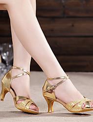 Non Customizable Women's Dance Shoes Suede Leatherette Sparkling Glitter Paillette SyntheticSuede Leatherette Sparkling Glitter Paillette
