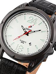 Men's Fashion Watch Wrist watch Calendar Quartz Leather Band Cool Casual Unique Creative Black Brown Grey