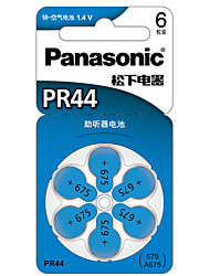 Panasonic PR-44CH/6C Coin Button CellC Zinc Battery 1.4V 6 Pack