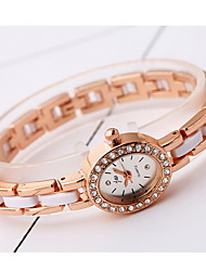 Women's Fashion Watch Simulated Diamond Watch Imitation Diamond Quartz Alloy Band Cool Casual Rose Gold