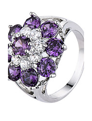 Ring Party Daily Casual Jewelry Gemstone & Crystal Alloy Zircon Ring 1pc,6 7 8 9 10 Purple