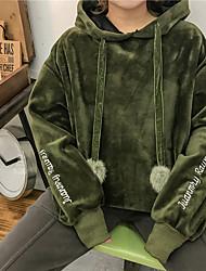 chi bestickten Korea unterzeichnen neuen Sicherungs und Pullover Samt mit Kapuze