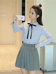 знак девочек колледж Ветер лук блузку