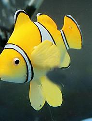 Aquarium Decoration Artificial Fish Non-toxic & Tasteless Silicone Orange