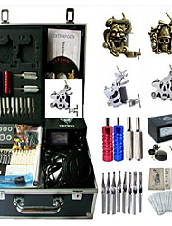 Basekey Tattoo Kit K194 4s Machine With Power Supply Grips Cleaning Brush Needles Ink