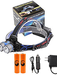 U'King® ZQ-X838B#6-EU 2*CREE XML-T6 4000LM LED 3Modes Headlamp Bicycle Lamp Kit Emergency Charging for your Mobile Devices