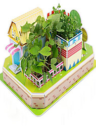Real Plant Jigsaw Puzzles 3D Puzzles Educational Toy Building Blocks DIY Toys House 1 Paper Rainbow Model & Building Toy