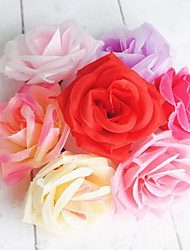 1 Ramo Fibra Rosas Flor de Mesa Flores artificiais 8*8*5