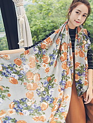 New Korean Version Of Gradient Rose Pattern Scarf