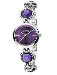 Women's Fashion Watch Bracelet Watch Simulated Diamond Watch Quartz / Imitation Diamond Rhinestone Alloy Band Casual LuxuryBlack Silver