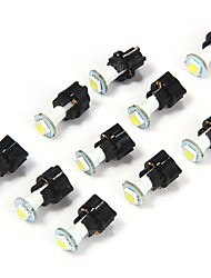 10PCS T5 LED Bulbs White