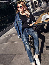 Spring new female jeans personality harem pants collapse pants loose cotton stretch denim pants feet tide