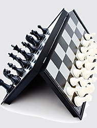Chess Magnetic Black And White Piece Folding Chessboard Board Game Leisure Hobby Toys  For Adult And Children Competition And Training