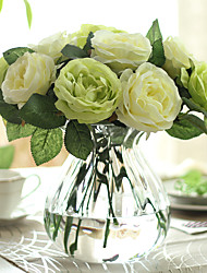 12 Branch Roses Tabletop Flower Artificial Flowers
