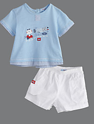 Baby Casual/Daily Solid Clothing Set Summer