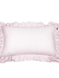 turqua принцессы анна наволочка 100% хлопка декоративного стиля границы оборки принцессы ребенок крышка розовой синие спальная подушка