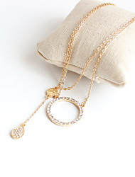 Women's Pendant Necklaces Jewelry Gemstone Alloy Jewelry Fashion Personalized Euramerican Gold Jewelry Party Special Occasion Engagement