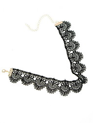 Women's Choker Necklaces Lace Shell Fashion Personalized Euramerican Black Jewelry Daily Casual 1pc