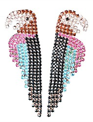 Rhinestone Parrot Drop Earrings Jewelry Party Daily Casual Alloy 1 pair Multi Color