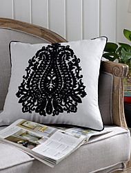 1 pcs Embroidered Classic Decorative Cotton Pillow Cover