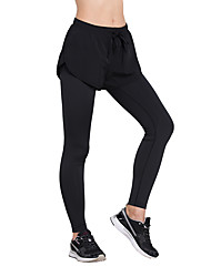 Running Women's Quick Dry Terylene Yoga Vansydical® Stretchy Slim Outdoor clothing Black Spring Summer Classic M L XL XXL
