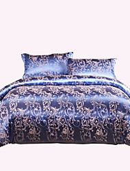 Bedtoppings Cotton Rich Jacquard Embossed 4pcs Duvet Cover Set Queen Size