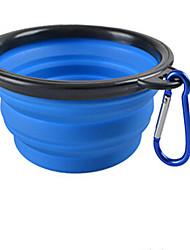 Chat Chien Mangeoires Animaux de Compagnie Bols & alimentation Portable Pliable Rouge Noir Vert Bleu Silicone