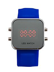 Women's Smart Watch Digital Watch Digital Solar Energy Plastic Band Vintage Black White Blue Strap Watch