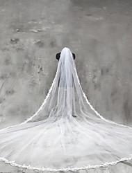 Voiles de Mariée Une couche Voiles cathédrale Bord en dentelle Tulle