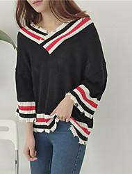 реальный выстрел! весной новый корейский хит цвета v-образный вырез свитер носить тонкий рукав