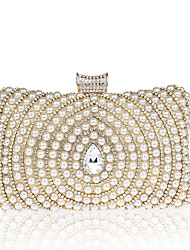 L.WEST Woman's pearl diamond dinner packages in hand bag set auger evening bags handbag