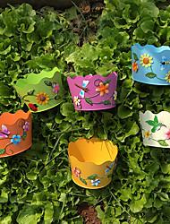 Candy color 6 color field wave flowerpot