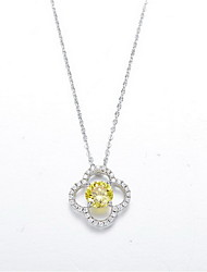 Pendant Necklaces / Sterling Silver Flower Basic Dangling Style Fashion Gold/Silver Jewelry Daily Casual 1pc