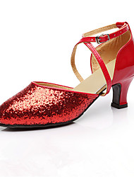 Female adult square dance shoes in the women's dancing shoes and dance Latin dance shoes