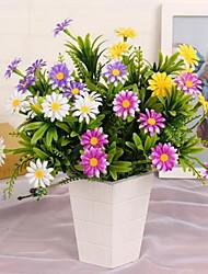 1 Ramo Plástico Margaridas Flor de Mesa Flores artificiais 25*25*30