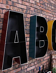 Wall Decor Iron Modern Wall Art Letter ABC Holder