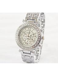 Модные часы Имитационная Четырехугольник Часы Кварцевый сплав Группа Повседневная Белый Золотистый Розовое золото