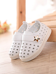 Baby Flats First Walkers PU Spring Fall Casual Outdoor Walking First Walkers Magic Tape Flat Heel White Light Yellow Blushing Pink Flat