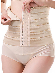 Maternity Postpartum Shaper Slimming Underwear Corset Girdle Hook Belt Waist Women's Sexy Solid-Medium Nylon Beige/Black