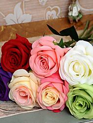 1 pièce unique de haute qiamond rose fleur de simulation