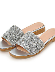 Women's Sandals Spring Summer Fall Comfort Glitter Customized Materials Party & Evening Dress Casual Low Heel Sequin Sparkling Glitter