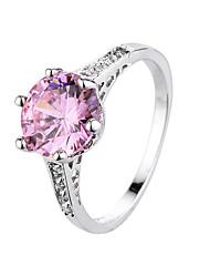 Кольцо Циркон Цирконий Сталь Мода Черный Бледно-розовый цвет Бижутерия Повседневные 1шт