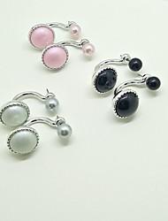 Drop Earrings Earrings Set Jewelry Unique Design Pendant Fashion Wedding Party Alloy 1 pair Beige Black Pearl Pink Pool