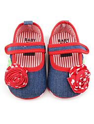 Infantil Bebê Rasos Primeiros Passos Sapatos de Berço Jeans Primavera Verão Outono Casual Social Primeiros Passos Sapatos de Berço