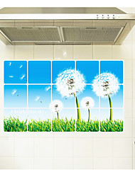 Dandelion Kitchen Ceramic Tile Wall Prevent Oil Stickers