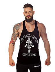Men's Gym Tank Top Quick Dry High Breathability (>15,001g) Breathable Lightweight Materials Sweat-wicking Tank Top for Exercise & Fitness