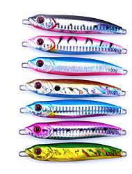 """7 Stück Metallköder Jigs Löffel Jigs Metallköder Pike Verschiedene Farben 100 g/> 1 Unze,100 mm/4"""" Zoll,Metall BleiSeefischerei"""