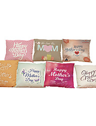 Set of 7 Mother 's Day  pattern   Linen Pillowcase Sofa Home Decor Cushion Cover